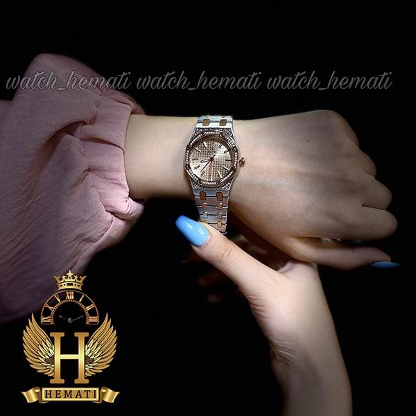خرید اینترنتی ساعت زنانه داتیس مدل DATIS D8442L نقره ای رزگلد شیشه کافی طرح ایپی