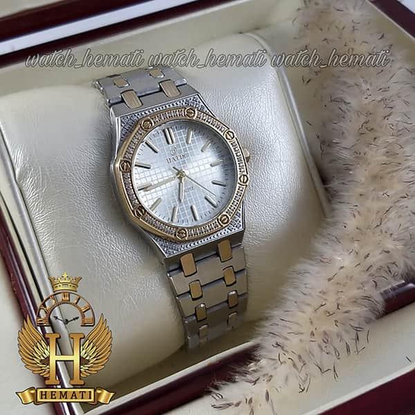 ساعت زنانه داتیس اورجینال مدل DATIS D8442L نقره ای طلایی طرح ایپی