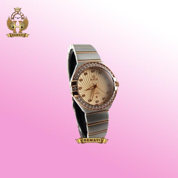 خرید ساعت زنانه داتیس طرح امگا کانستلاکشن DATIS D8444L نقره ای رزگلد شیشه کافی