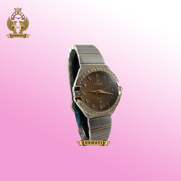 خرید ساعت زنانه داتیس طرح امگا کانستلاکشن DATIS D8444L نقره ای طلایی با شیشه کافی