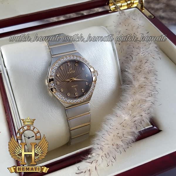 خرید اینترنتی ساعت زنانه داتیس طرح امگا کانستلاکشن DATIS D8444L نقره ای طلایی با شیشه کافی