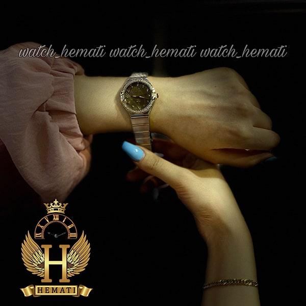 قیمت ساعت زنانه داتیس طرح امگا کانستلاکشن DATIS D8444L نقره ای طلایی با شیشه کافی