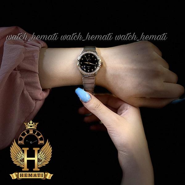 خرید ساعت مچی زنانه اورجینال داتیس طرح امگا کانستلاکشن DATIS D8444L نقره ای طلایی با شیشه کافی