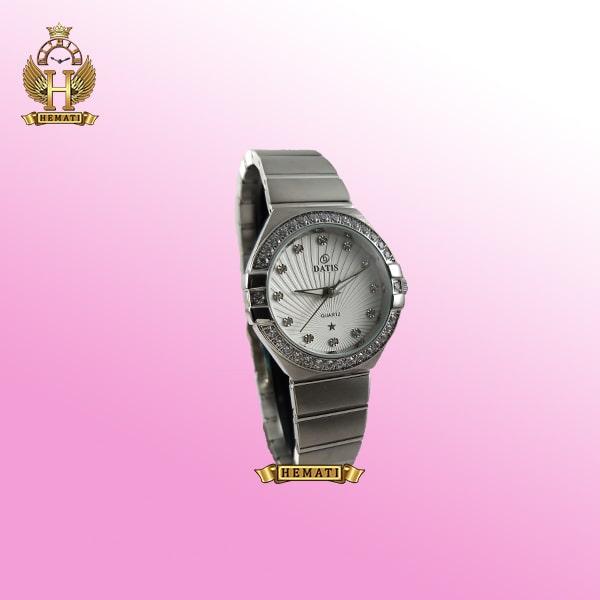خرید ساعت زنانه داتیس طرح امگا کانستلاکشن DATIS D8444L نقره ای