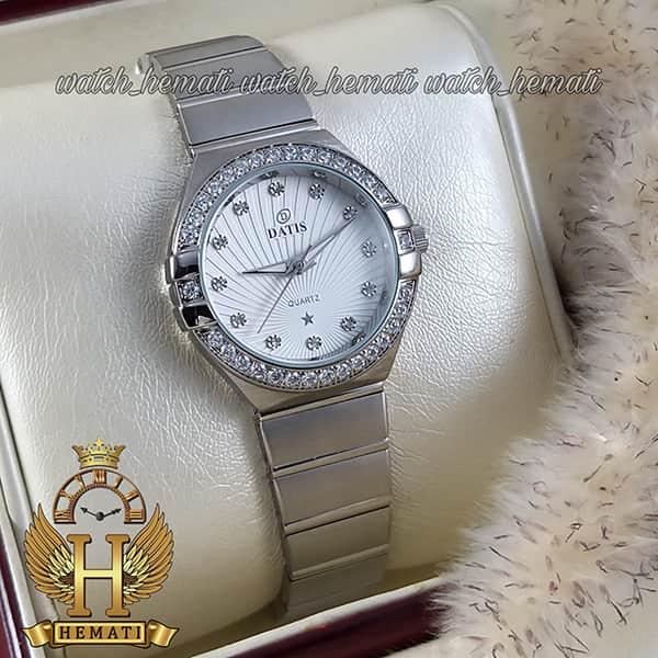 خرید اینترنتی ساعت زنانه داتیس طرح امگا کانستلاکشن DATIS D8444L نقره ای