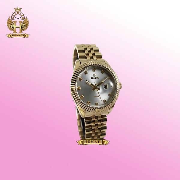 ساعت زنانه داتیس مدل D8475L طلایی صفحه نقره ای اورجینال