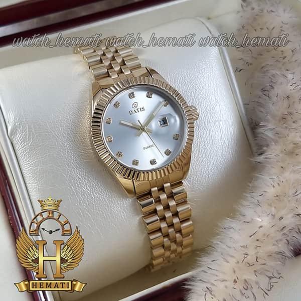 خرید ساعت زنانه داتیس مدل D8475L طلایی صفحه نقره ای اورجینال
