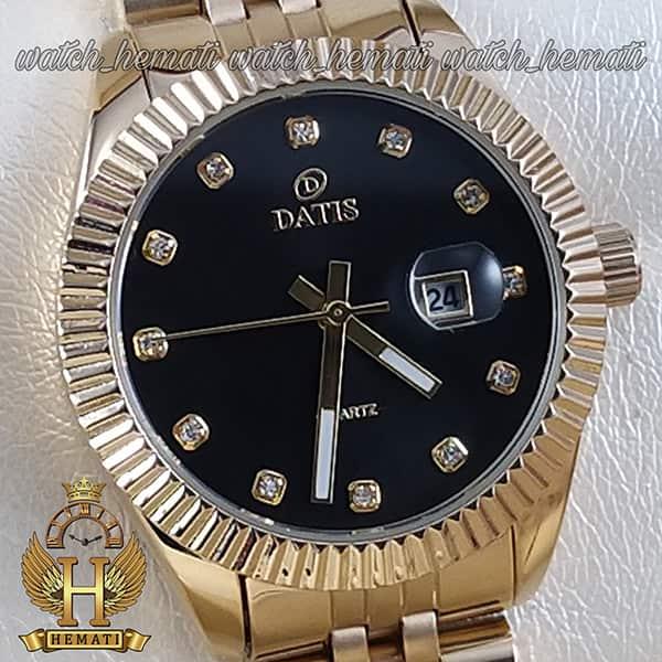 ساعت زنانه داتیس مدل D8475L طلایی صفحه مشکی اورجینال