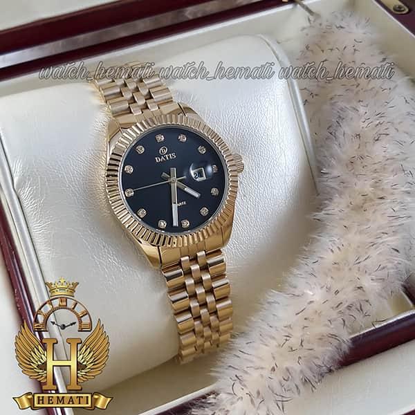 خرید ساعت مچی زنانه داتیس مدل D8475L طلایی صفحه مشکی اورجینال