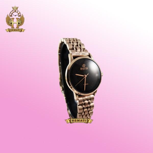 خرید ساعت زنانه داتیس اورجینال مدل DATIS D8477BL رزگلد شیشه کافی