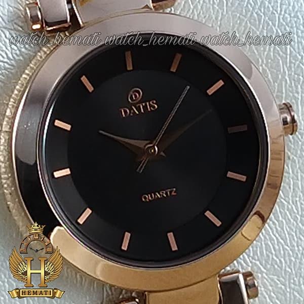 ساعت زنانه داتیس رزگلد مدل DATIS D8509EL شیشه کافی طرح سیم بکسل