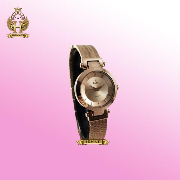 خرید ساعت زنانه داتیس رزگلد طرح سیم بکسل مدل DATIS D8509EL