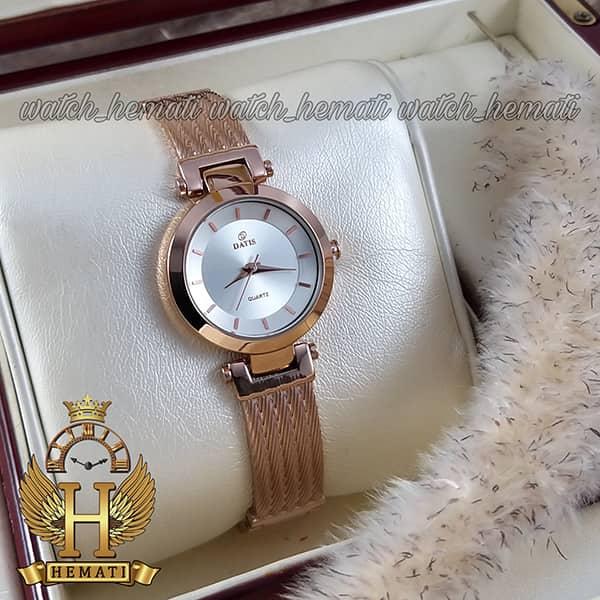 قیمت ساعت زنانه داتیس طرح سیم بکسل مدل DATIS D8509EL رزگلد