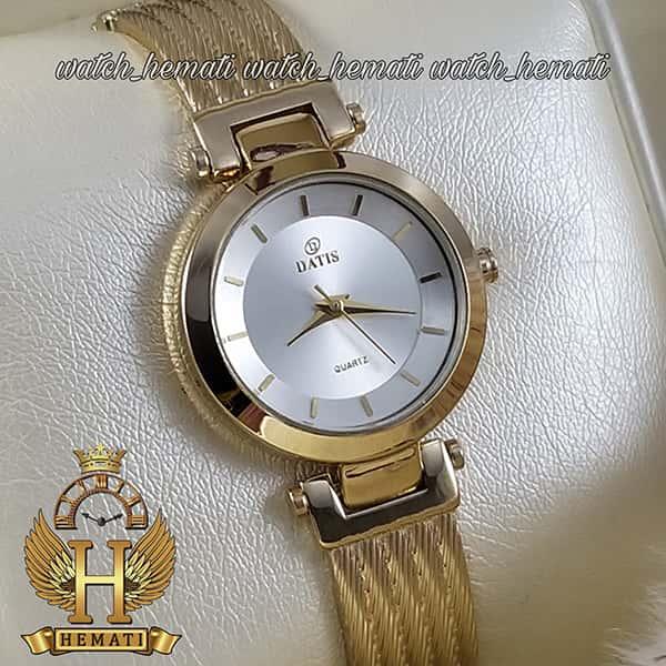 ساعت مچی زنانه داتیس مدل سیم بکسل طلایی مدل DATIS D8509EL