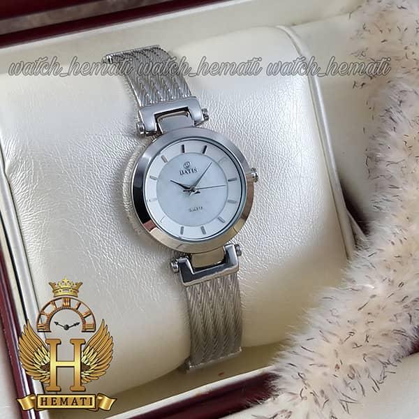 خرید اینترنتی ساعت زنانه داتیس نقره ای مدل DATIS D8509EL