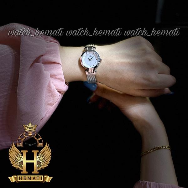 قیمت ساعت زنانه داتیس طرح سیم بکسل مدل DATIS D8509EL نقره ای