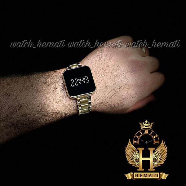 خرید اینترنتی ساعت ال ای دی داتیس مدل DATIS LED D8488AL رنگ طلایی