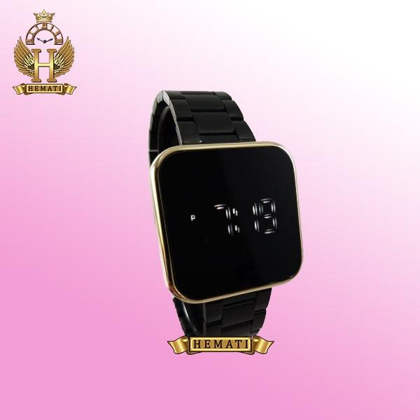 خرید ساعت ال ای دی داتیس مدل DATIS LED D8488AL قاب طلایی و بند مشکی