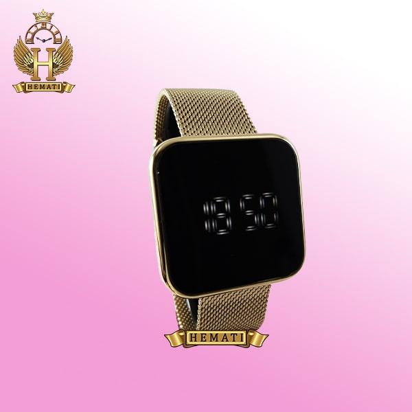 خرید ساعت ال ای دی داتیس مدل DATIS LED D8488BL بند حصیری رنگ تمام طلایی