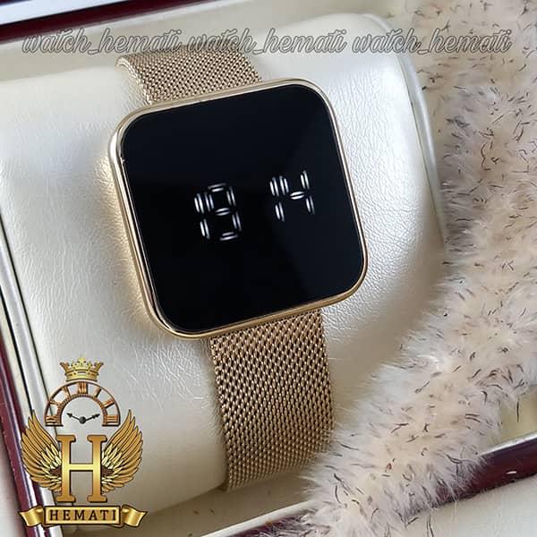 ساعت ال ای دی داتیس مدل DATIS LED D8488BL بند حصیری رنگ تمام طلایی
