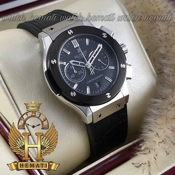 مشخصات ساعت زنانه هابلوت بیگ بنگ مدل HU3L111 قاب نقره ای و دور قاب مشکی