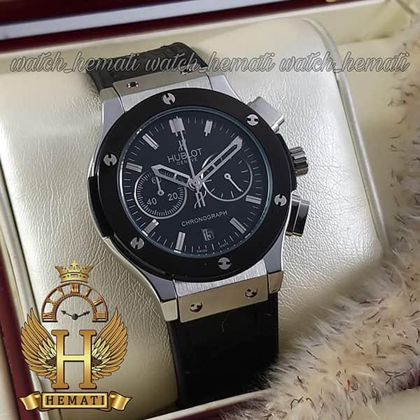 خرید ارزان ساعت زنانه هابلوت بیگ بنگ مدل HU3L111 قاب نقره ای و دور قاب مشکی