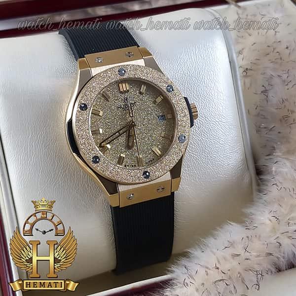 خرید ارزان ساعت زنانه هابلوت بیگ بنگ مدل Big Bang BB5400 طلایی قاب شنی تک موتوره