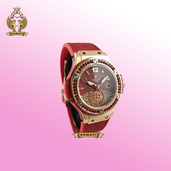 ساعت زنانه هابلوت بیگ بنگ مدل Big bang BB5092 رنگ قرمز دور قاب نگین دار هایکپی
