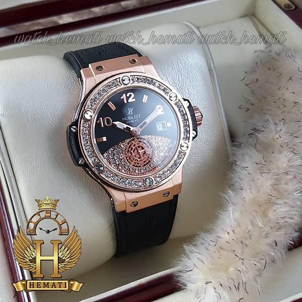خرید انلاین ساعت زنانه هابلوت بیگ بنگ مدل Big bang HUCL502 مشکی دور قاب نگین دار تک موتوره
