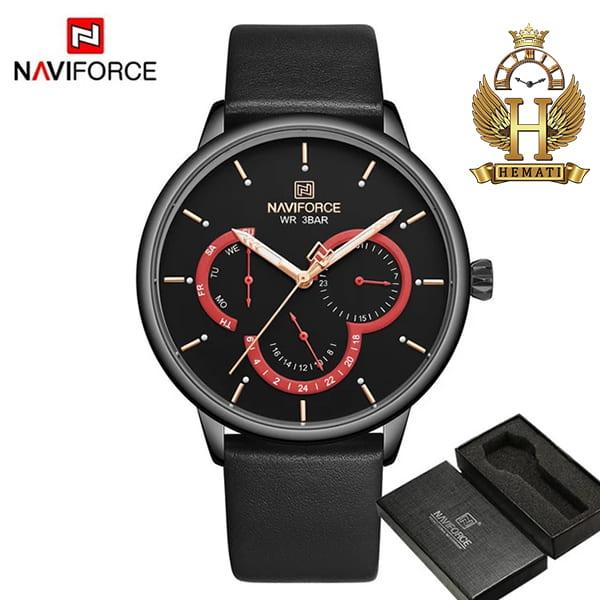 خرید ساعت مردانه نیوی فورس naviforce nf3011m مشکی قرمز