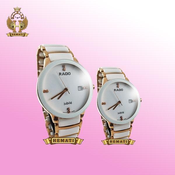 خرید ساعت ست رادو دیا استار Rado Diastar Jubile 0449P قاب سفید و بند سفید-رزگلد