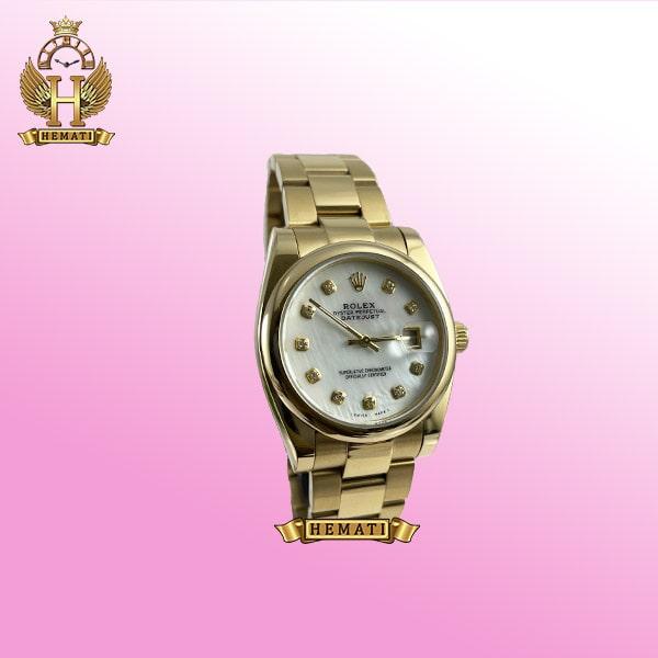 ساعت مردانه دیت جاست مدل Rolex Datejust 594 طلایی بند اویستر