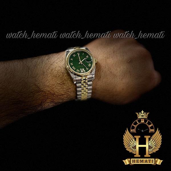 خرید انلاین ساعت مردانه رولکس دیت جاست Rolex Datejust RODJM400 نقره ای طلایی ، دور قاب ساده