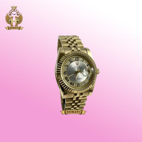 ساعت زنانه رولکس دیت جاست مدل Datejust 788 طلایی صفحه ایندکس یونانی