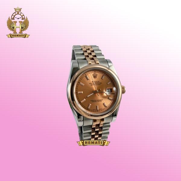 ساعت رولکس زنانه دیت جاست مدل Datejust 894 نقره ای-رزگلد صفحه ساعت رزگلد