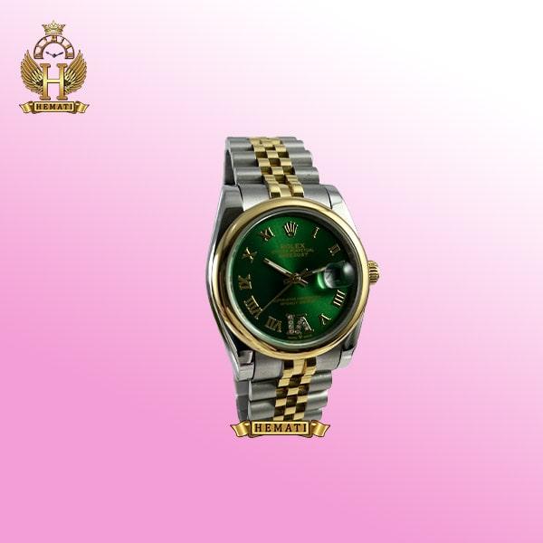 خرید ساعت زنانه رولکس دیت جاست مدل Datejust 682 نقره ای طلایی صفحه سبز
