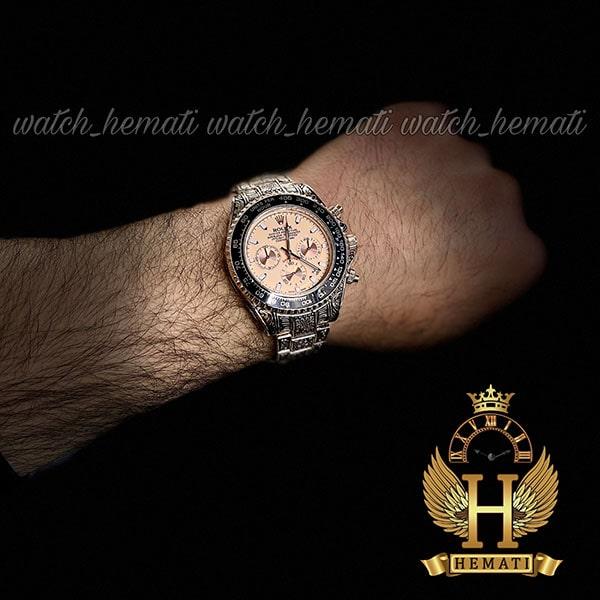خرید انلاین ساعت رولکس حکاکی اتومات مدل دیتونا رنگ رزگلد صفحه رزگلد
