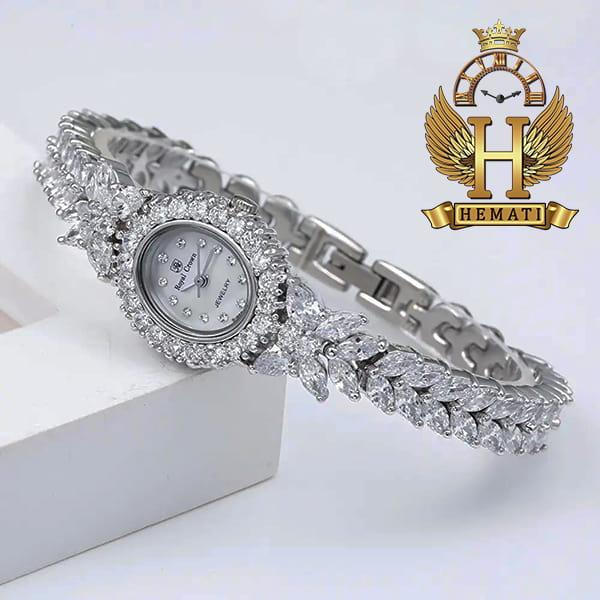 خرید ساعت رویال کرون زنانه مدل 2527 نقره ای مدل پروانه