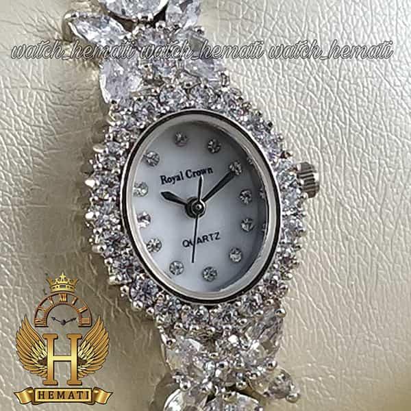 خرید انلاین ساعت رویال کرون زنانه مدل 2527 نقره ای مدل پروانه