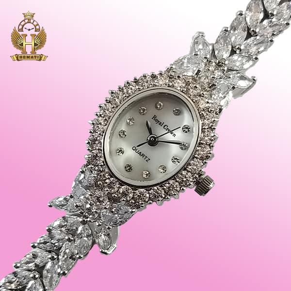 خرید ساعت رویال کرون زنانه مدل 2528 مدل پروانه ای بند بلند