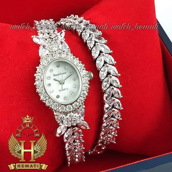خرید انلاین ساعت رویال کرون زنانه مدل 2528 مدل پروانه ای بند بلند