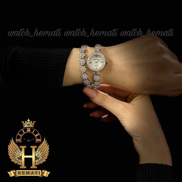 خرید انلاین ساعت رویال کرون زنانه مدل Royal crown 5308 با بند بلند دو دور بند