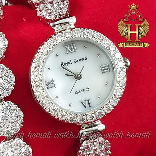 قیمت ساعت رویال کرون زنانه مدل Royal crown 5308 با بند بلند دو دور بند
