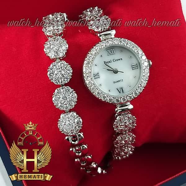مشخصات ساعت رویال کرون زنانه مدل Royal crown 5308 با بند بلند دو دور بند