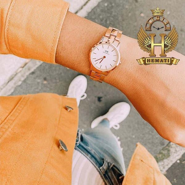 مشخصات ساعت زنانه دنیل ولینگتون Daniel Wellington DWL20 رزگلد(صفحه-سفید)
