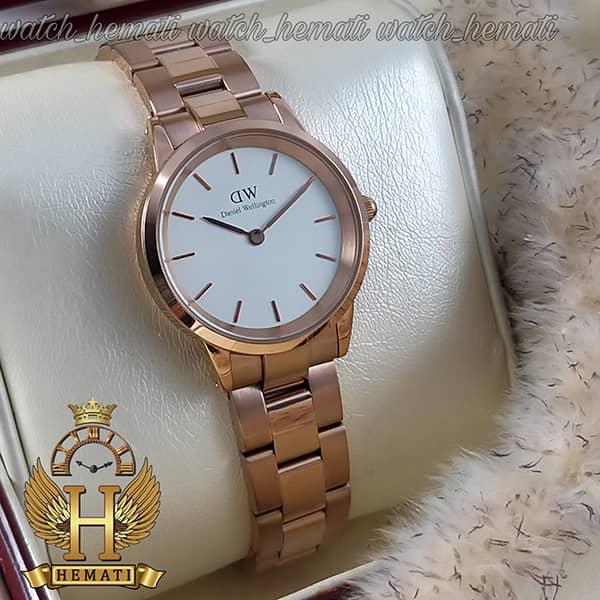خرید اینترنتی ساعت زنانه دنیل ولینگتون Daniel Wellington DWL20 رزگلد(صفحه-سفید)