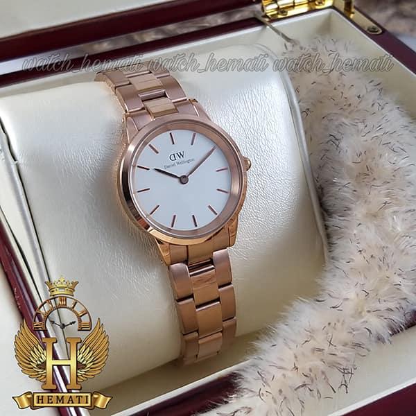 خرید انلاین ساعت زنانه دنیل ولینگتون Daniel Wellington DWL20 رزگلد(صفحه-سفید)