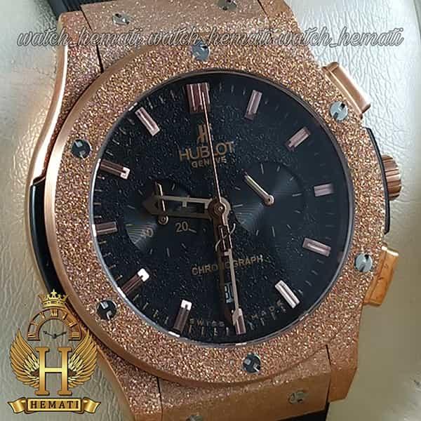 خرید انلاین ساعت مردانه هابلوت بیگ بنگ Hublot BB7043 قاب شنی رزگلد سه موتوره