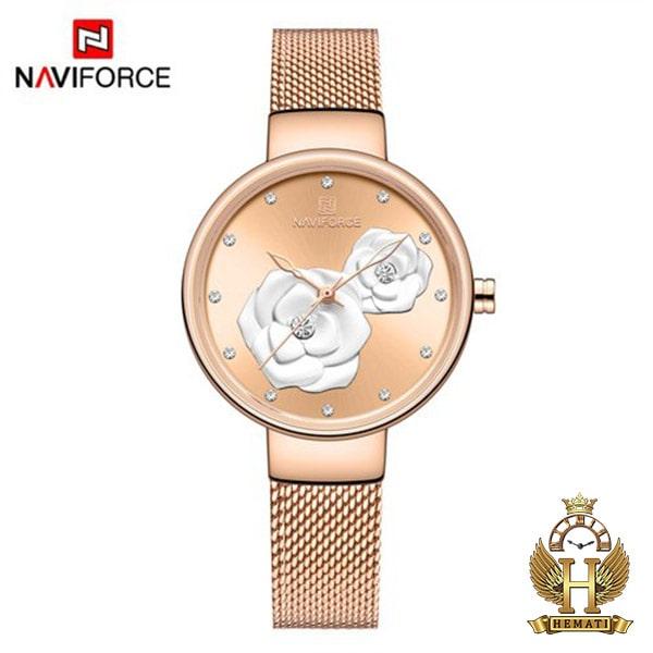 خرید انلاین ساعت زنانه نیوی فورس مدل nf5013l قاب و بند و صفحه رزگلد