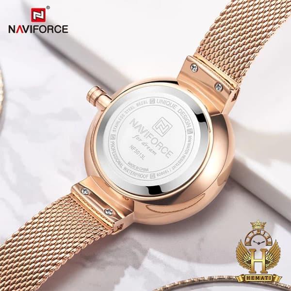 قیمت ساعت زنانه نیوی فورس مدل nf5013l قاب و بند و صفحه رزگلد